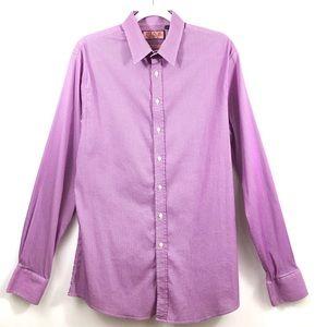 THOMAS PINK London Super Slim Plaid Dress Shirt